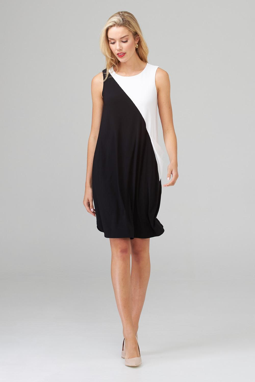 Joseph Ribkoff Robes Noir/Vanille Style 202305