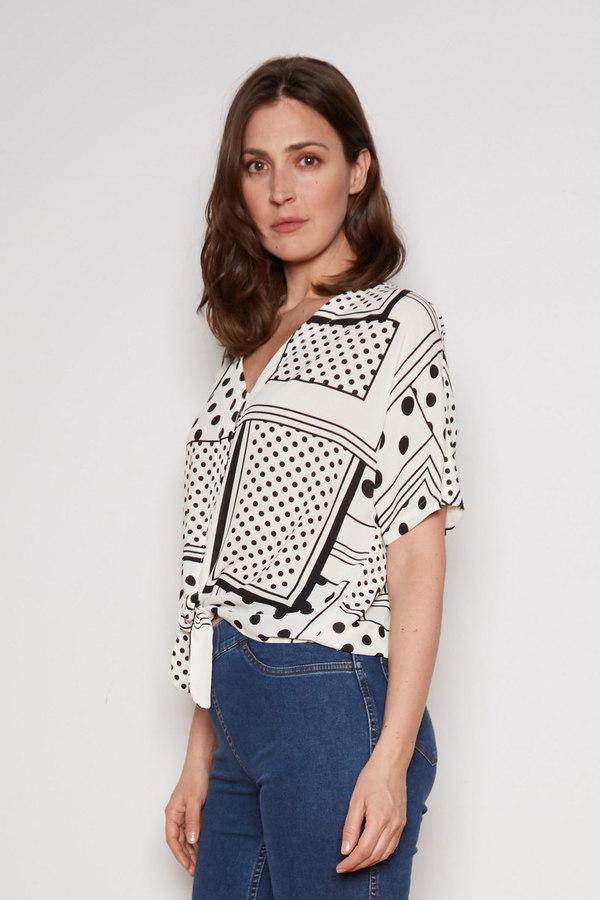 Joseph Ribkoff Chemises et blouses Vanille/Noir Style 202316