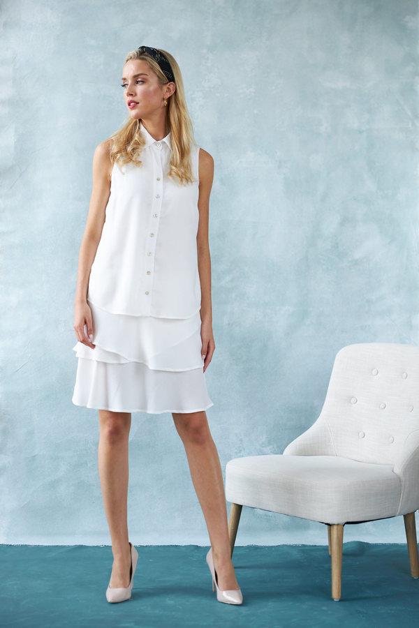 Joseph Ribkoff White Dresses Style 202323