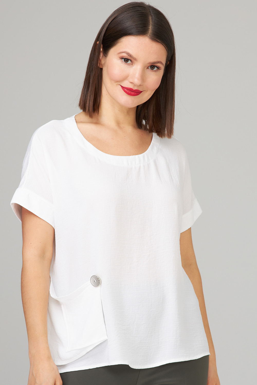 Joseph Ribkoff White Tees & Camis Style 202325