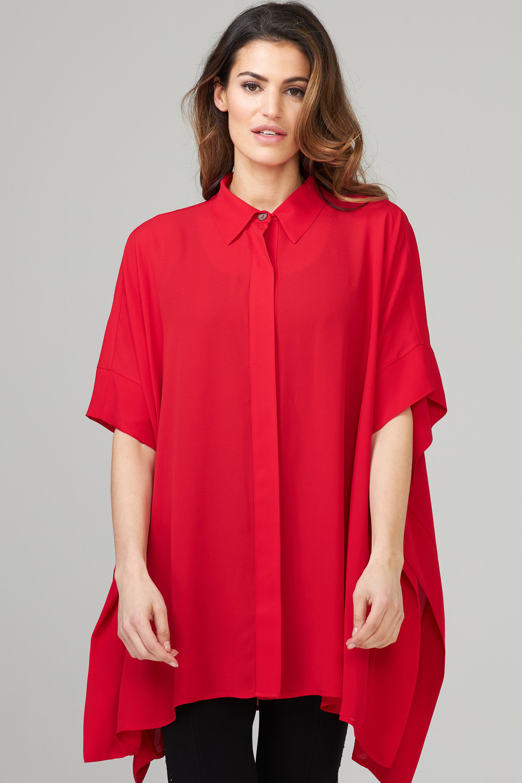 Joseph Ribkoff Lipstick Red 173 Shirts & Blouses Style 202328