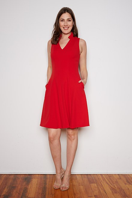 Joseph Ribkoff Robes Rouge A Levres 173 Style 202334