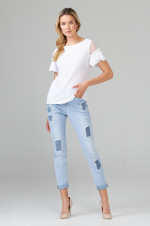 Joseph Ribkoff Jeans Bleu Denim Pâle Style 202340