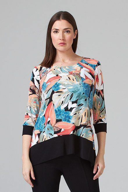 Joseph Ribkoff Black/Multi Tunics Style 202379