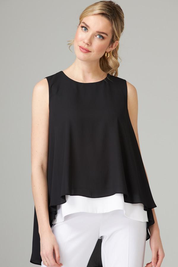 Joseph Ribkoff Black/Vanilla Shirts & Blouses Style 202381