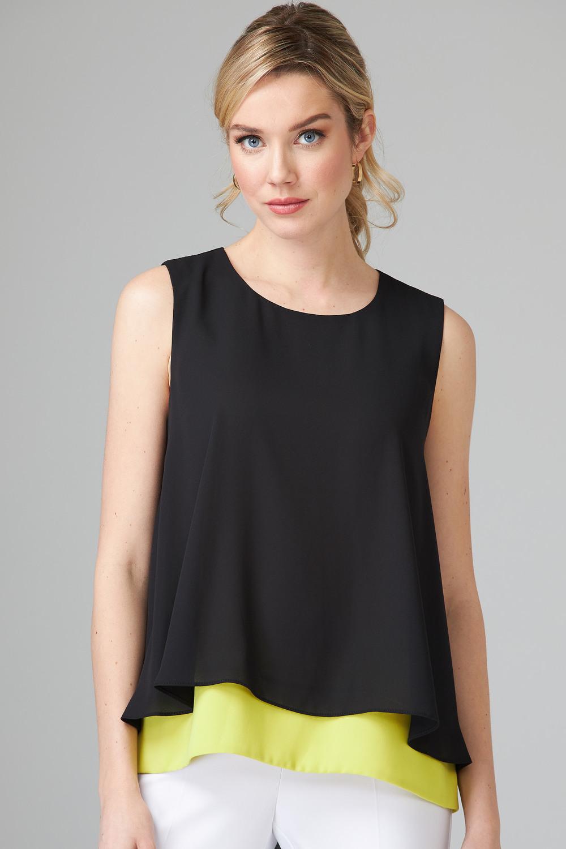 Joseph Ribkoff Chemises et blouses Black/Limeade Style 202381