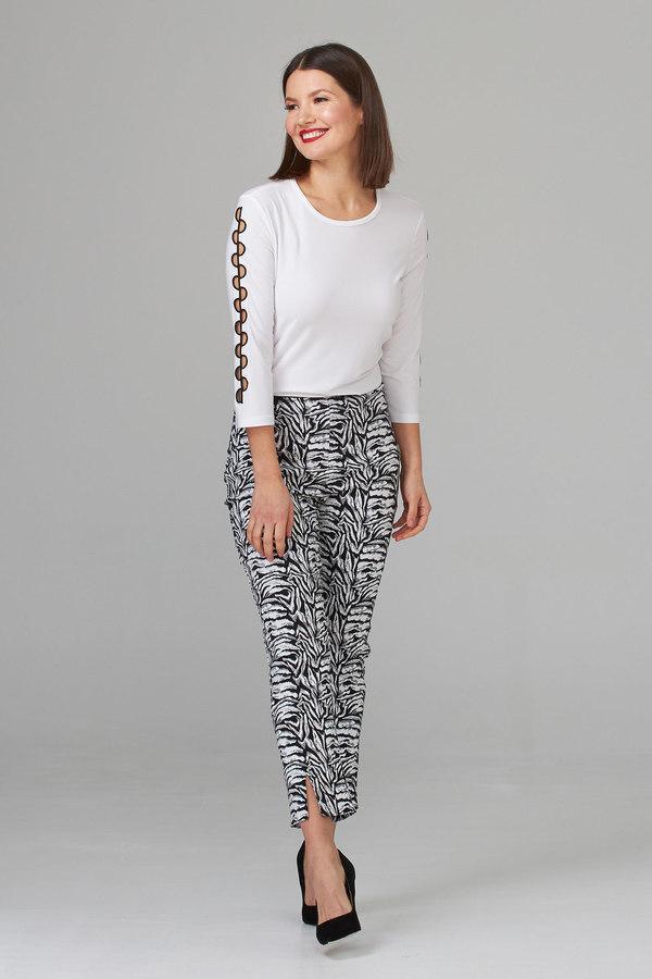 Joseph Ribkoff Pantalons Noir/Blanc Style 202394