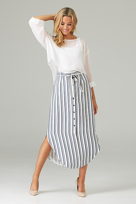 Joseph Ribkoff Off White/Blue Skirts Style 202396