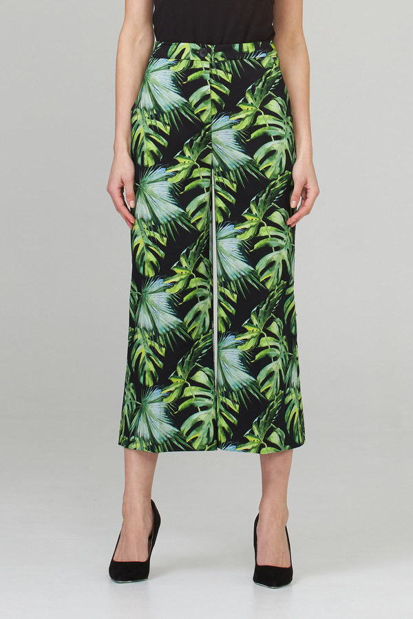 Joseph Ribkoff Pantalons Noir/Vert/Multi Style 202412