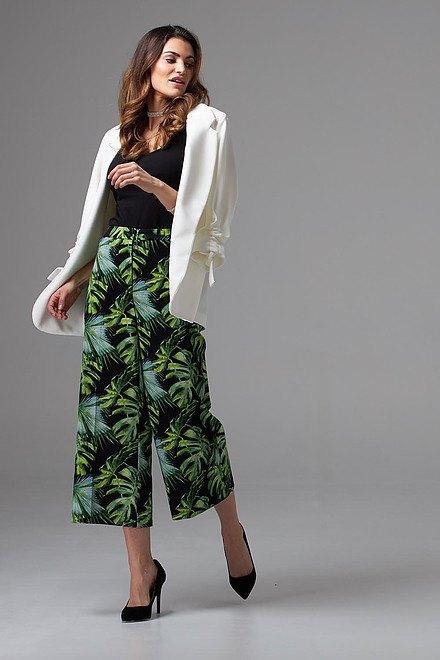 Joseph Ribkoff BLACK/GREEN/MULTI Pants Style 202412