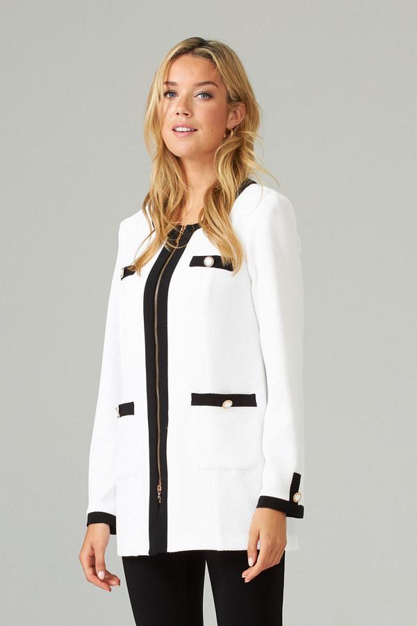 Joseph Ribkoff Jacket Black and White Long Sleeve Size 12