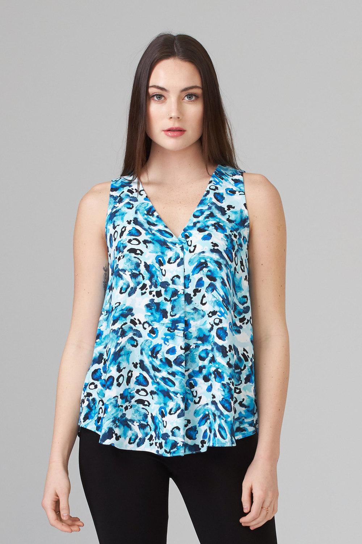 Joseph Ribkoff Blue/Multi Shirts & Blouses Style 202434