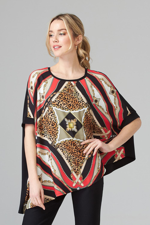 Joseph Ribkoff Papaya Multi Shirts & Blouses Style 202440