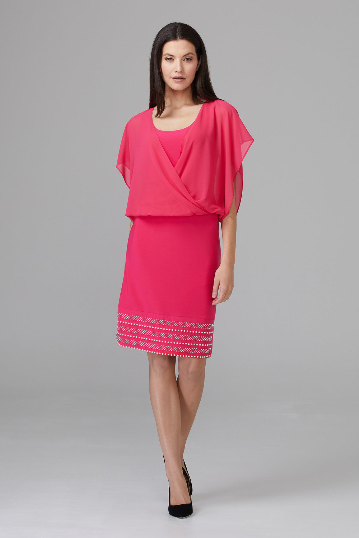 Joseph Ribkoff HYPER PINK Dresses Style 201166