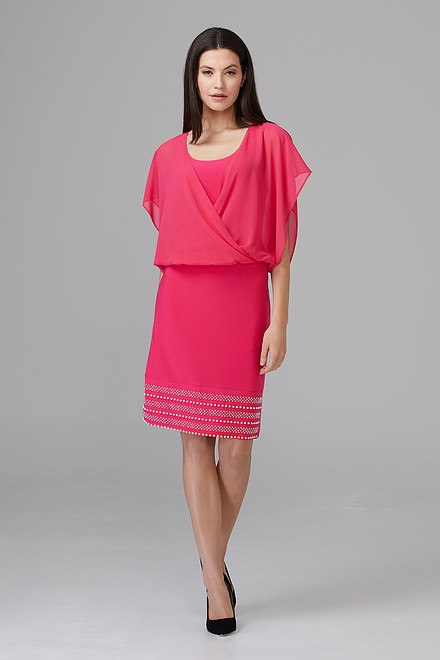 Joseph Ribkoff Robes Rose Vif Style 201166