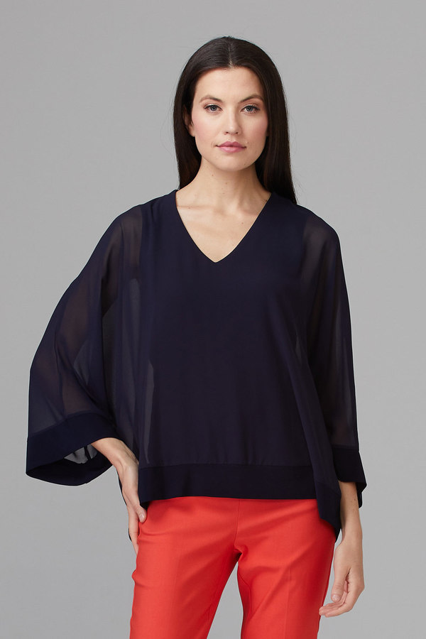 Joseph Ribkoff Midnight Blue 40 Shirts & Blouses Style 201086