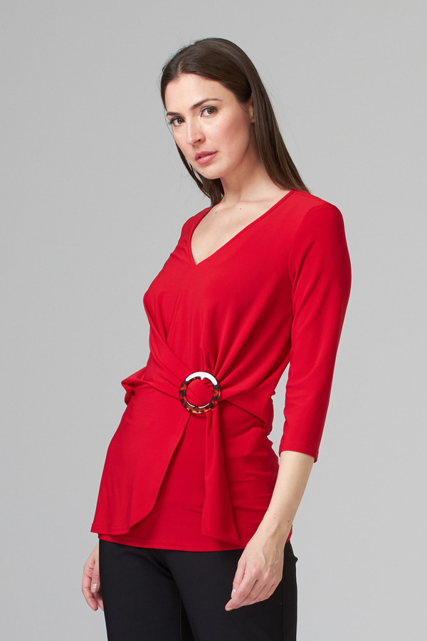 Joseph Ribkoff Lipstick Red 173 Tees & Camis Style 201299