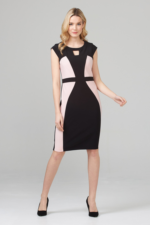 Joseph Ribkoff Robes Noir/Rosé Style 201156