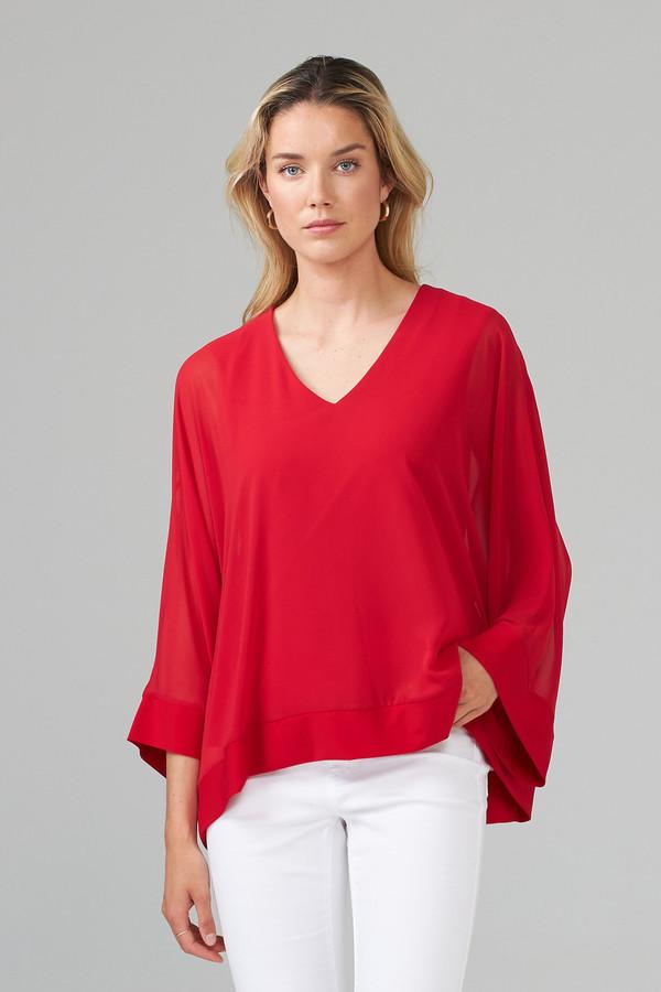 Joseph Ribkoff Lipstick Red 173 Shirts & Blouses Style 201086