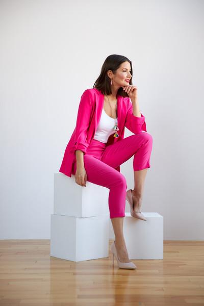 Joseph Ribkoff Pantalons Rose Vif Style 201536