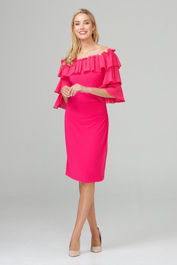 Joseph Ribkoff Robes Rose Vif Style 201002