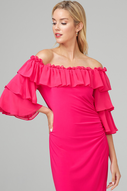 Joseph Ribkoff HYPER PINK Dresses Style 201002