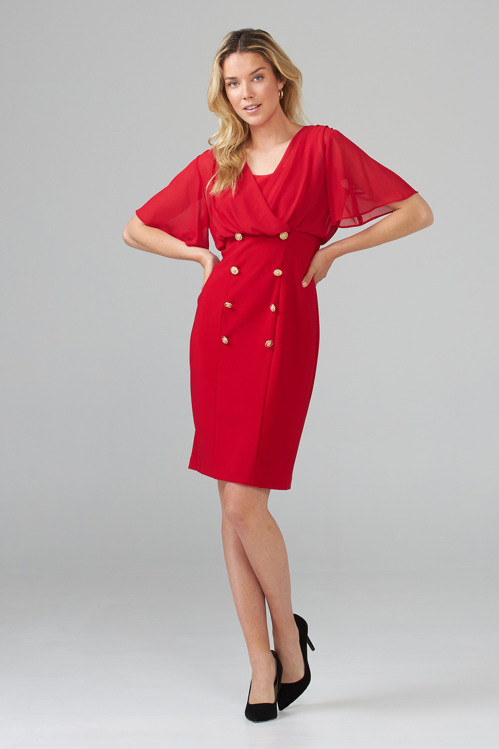 Joseph Ribkoff Robes Rouge A Levres 173 Style 201007