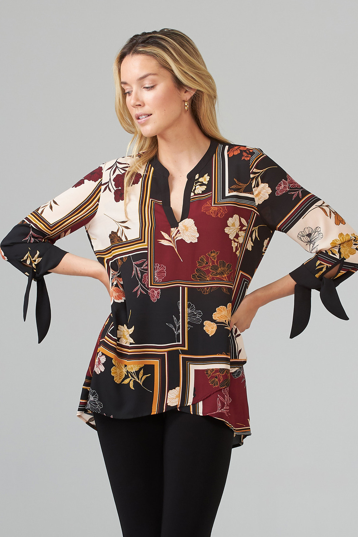 Joseph Ribkoff Black/Multi Tunics Style 203314