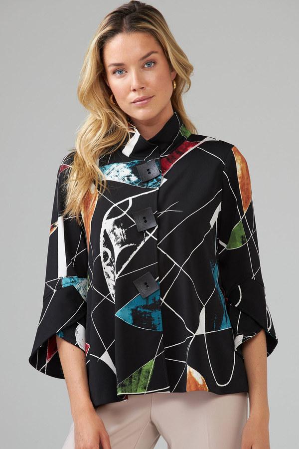 Joseph Ribkoff Black/Multi Jackets Style 203664