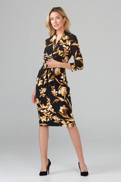 Joseph Ribkoff Robes Noir/Brun Style 203204