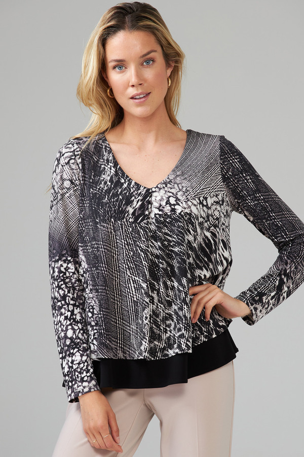 Joseph Ribkoff Chemises et blouses Noir/Vanille Style 203354