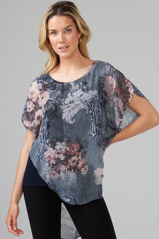Joseph Ribkoff Grey/Multi Shirts & Blouses Style 203517