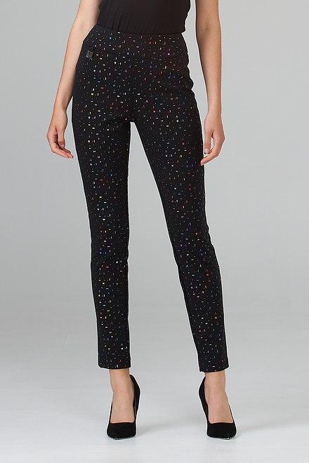 Joseph Ribkoff Black/Multi Pants Style 203392