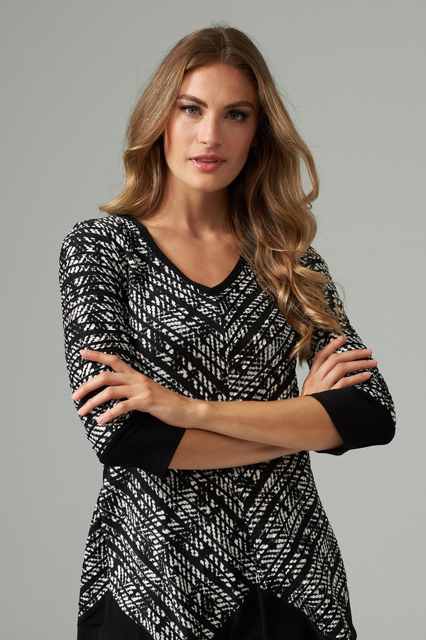 Joseph Ribkoff Black/Off White Tees & Camis Style 203039