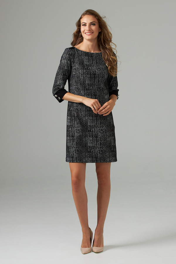 Joseph Ribkoff Black/Off White Dresses Style 203066