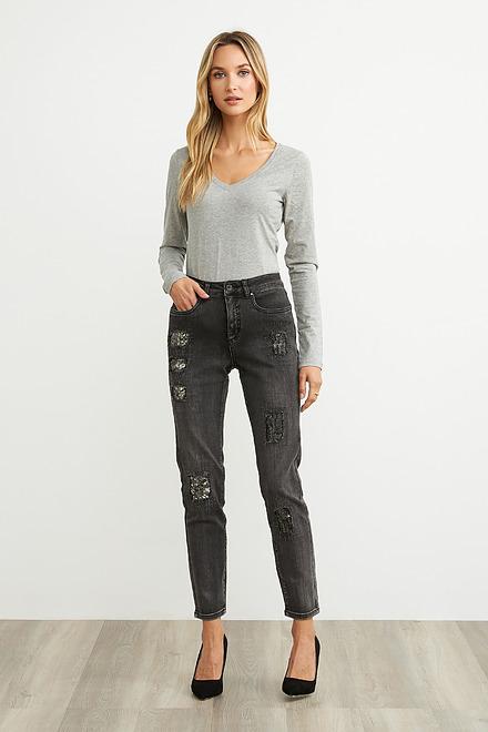 Joseph Ribkoff Charcoal/Dark Grey Jeans Style 203072