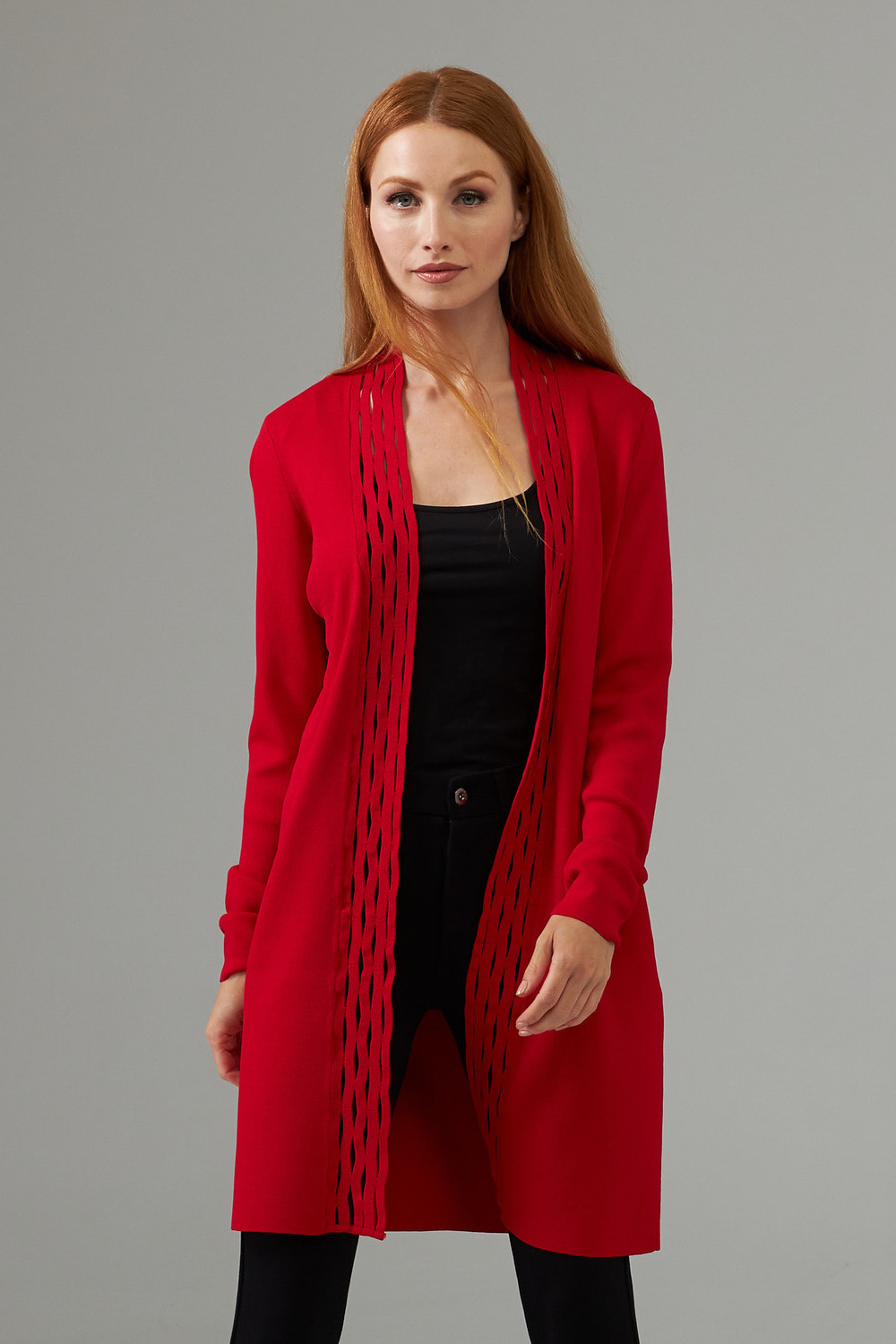 Joseph Ribkoff Cardigans Rouge A Levres 173 Style 203094