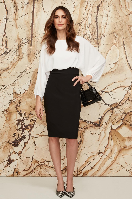 Joseph Ribkoff Black/Vanilla Dresses Style 203121