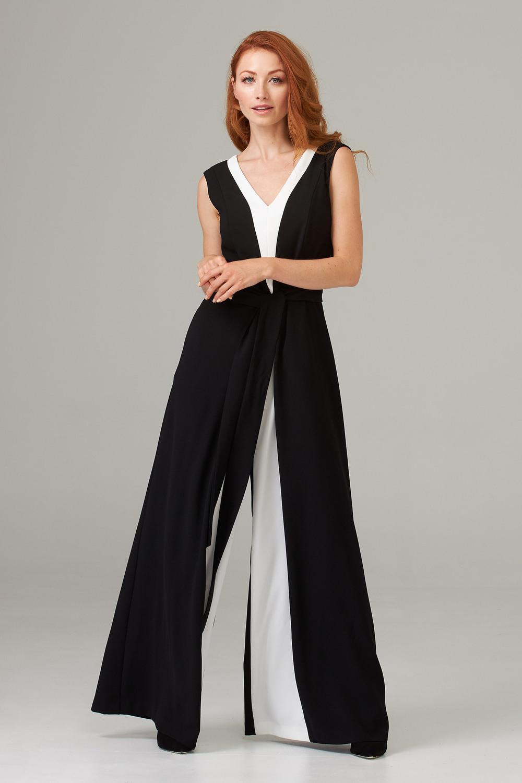 Joseph Ribkoff Black/Vanilla Jumpsuits Style 203130