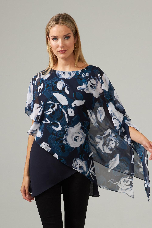 Joseph Ribkoff Midnight Blue/Multi Shirts & Blouses Style 203158