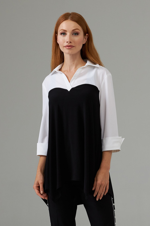 Joseph Ribkoff Black/White Shirts & Blouses Style 203194
