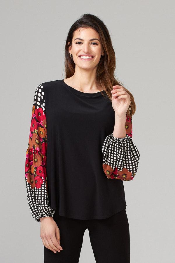 Joseph Ribkoff Black/Multi Shirts & Blouses Style 203213
