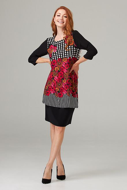Joseph Ribkoff Black/Multi Dresses Style 203214