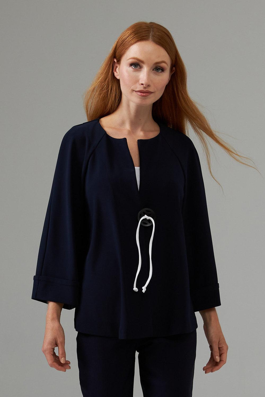 Joseph Ribkoff Midnight Blue/Vanilla Jackets Style 203219