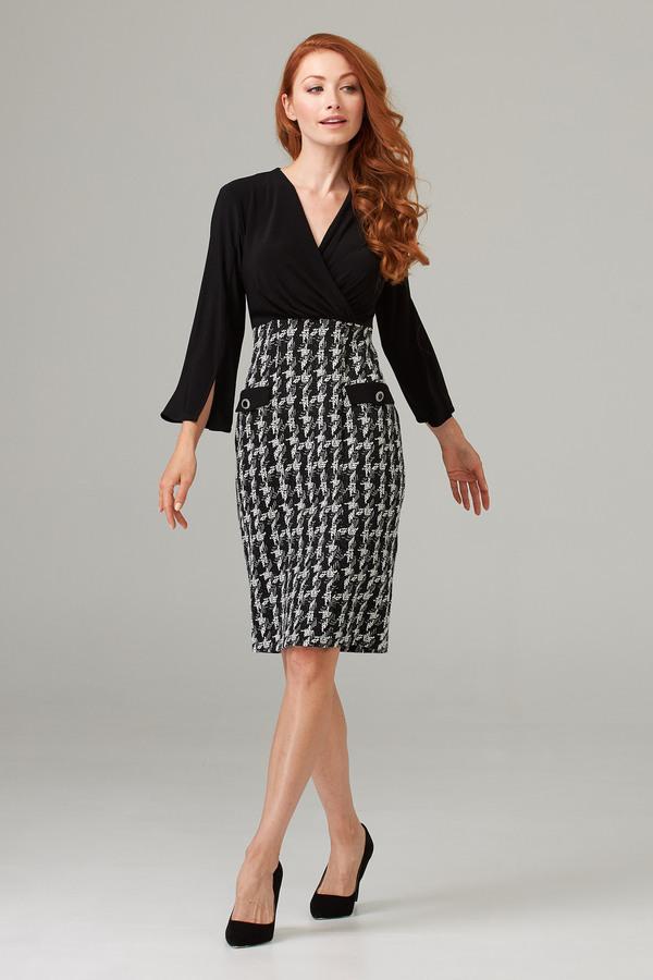 Joseph Ribkoff Black/Off White Dresses Style 203243