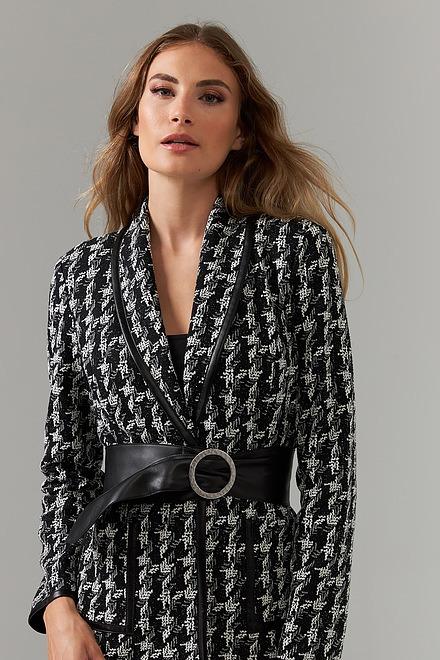 Joseph Ribkoff Black/Off White Blazers Style 203264