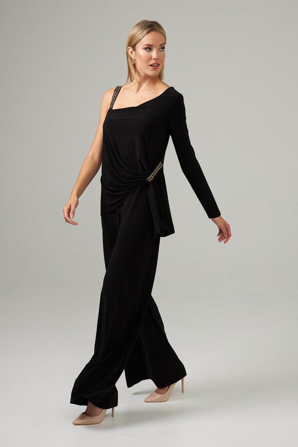 Joseph Ribkoff Studded Jumpsuit Style 203310. Black