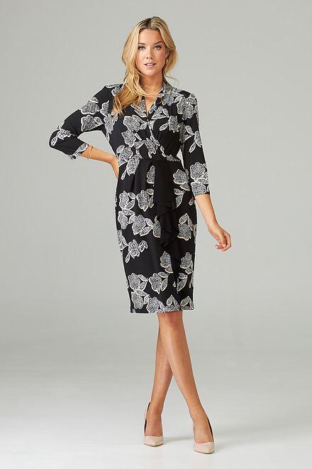 Joseph Ribkoff Black/Vanilla Dresses Style 203312