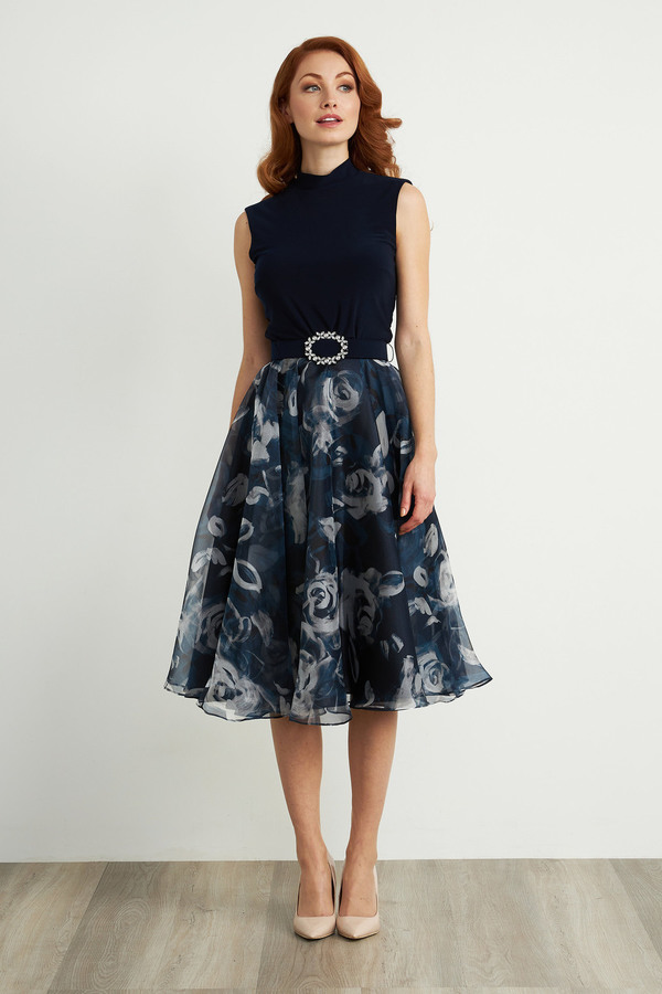 Joseph Ribkoff Midnight Blue/Multi Dresses Style 203321