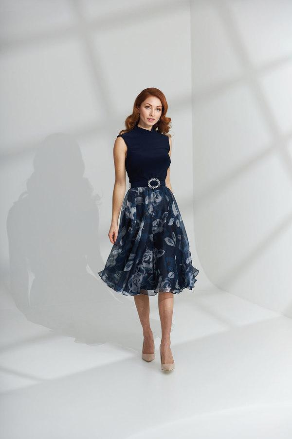 Joseph Ribkoff Robes Bleu Minuit/Multi Style 203321